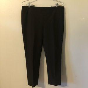 Joseph Cropped Gabardine Black Pants
